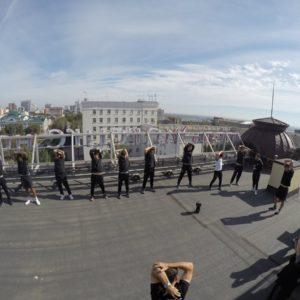 Разминка ЦСКА на крыше