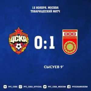 ЦСКА - Уфа - 0:1