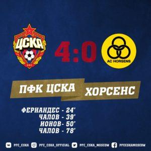 ПФК ЦСКА - Хорсенс - 4:0