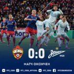 Обзор матча: ПФК ЦСКА — Зенит — 0:0