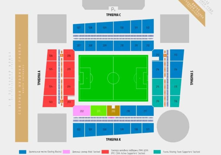 стадион ЦСКА - схема