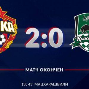 ЦСКА - Краснодар - 2:0