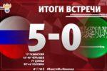 Сборная России обыграла Саудовскую Аравию 5:0