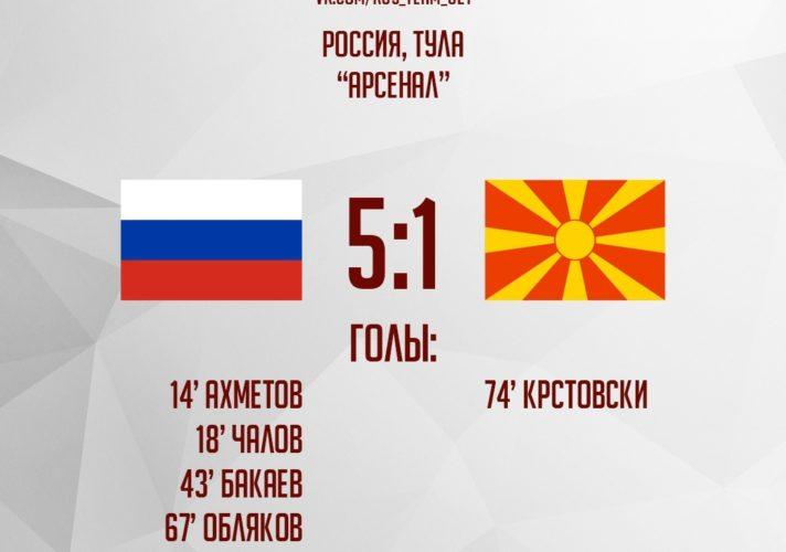 Россия - Македония