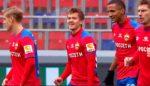 Обляков забил мяч «Оренбургу» с центра поля. Это его дебютный гол за ЦСКА