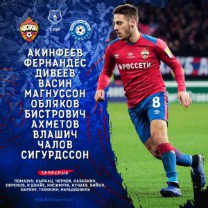 Состав ПФК ЦСКА