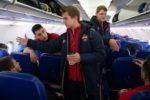 Команда ПФК ЦСКА вылетела на игру с Краснодаром